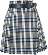 Alexander McQueen checked wrap skirt - women - Calf Leather/Cupro/Virgin Wool - 40