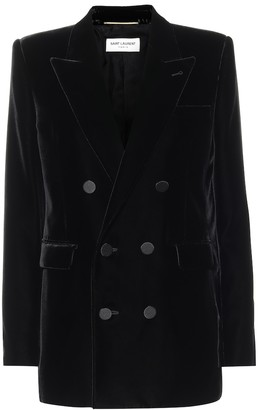 Saint Laurent Double-breasted velvet blazer