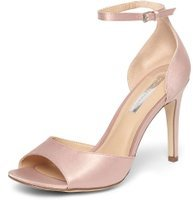 Dorothy Perkins Womens Blush Satin 'Shay' Sandals- Blush