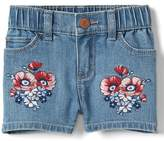 Gap Stretch floral embroidery shorty shorts