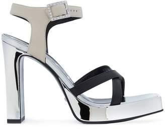 Gucci crystal buckle sandals