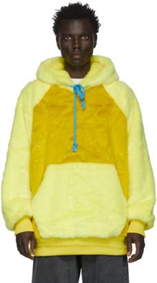 Landlord Yellow Faux-Fur Hoodie
