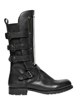DSquared 30mm Leather Boots With Metal Plaque
