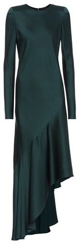 Haider Ackermann Long-sleeved satin dress