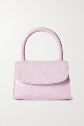 BY FAR Mini Croc-effect Leather Tote - Baby pink
