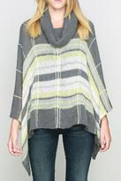 Wooden Ships Hyland Plaid Poncho