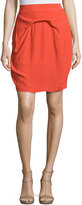 See by Chloe Pleated Pencil Skirt, Red