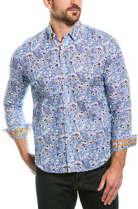 Robert Graham Cameron Linen-Blend Tailored Fit Woven Shirt