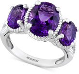 Effy Amethyst Three-Stone Ring (3-1/2 ct. t.w.) in Sterling Silver
