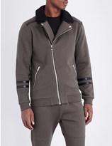 The Kooples Sherpa-collar jersey jacket