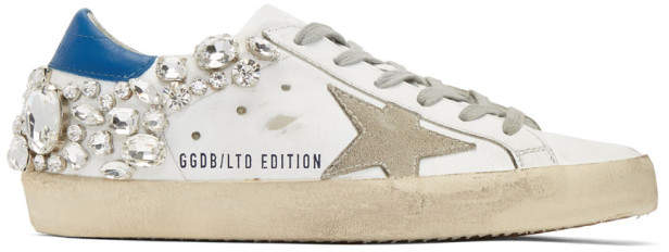 Golden Goose White Diamond Superstar Sneakers