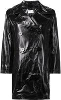 Simon Miller varnished effect peacoat