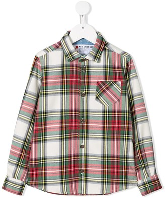 MC2 Saint Barth Kids Chamonix tartan shirt