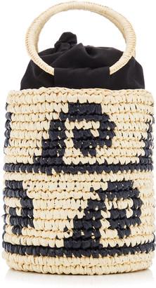Sensi Studio Waves Mini Straw Bucket Bag