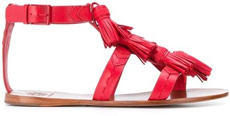 Tory Burch ankle strap tassel sandals