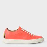 Paul Smith Men's Coral Calf Leather 'Nastro' Sneakers