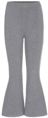 Stella McCartney Wool-blend cropped flared trousers