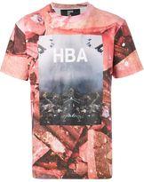 Hood by Air abstract print T-shirt - men - Cotton - XL