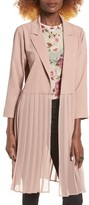 Leith Women's Pleated Duster Coat