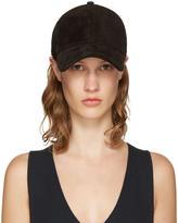 Rag & Bone Black Suede Marilyn Baseball Cap