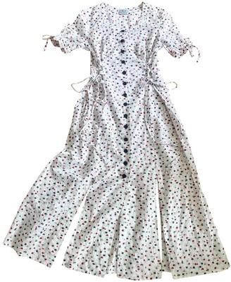 Non Signã© / Unsigned Manche ballon White Cotton Dresses