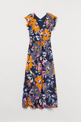 H&M Long butterfly-sleeved dress