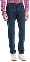 Kiton Twill Five-Pocket Jeans, Navy