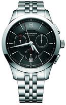 Victorinox 241745 Alliance Chronograph Day Date Bracelet Strap Watch, Silver/black