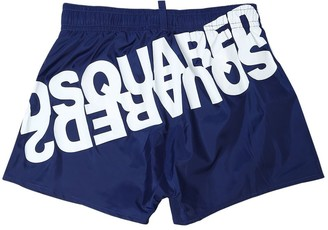 DSQUARED2 Logo Printed Nylon Swim Shorts