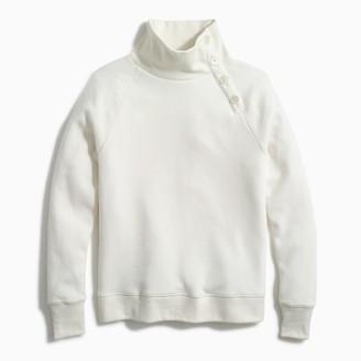 J.Crew Button-collar pullover sweatshirt