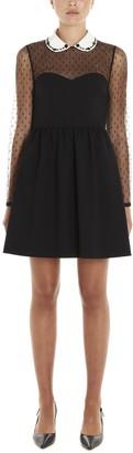 RED Valentino Sheer Panelled Mini Dress
