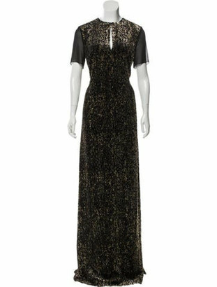 Lanvin Metallic Evening Dress w/ Tags Black