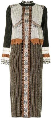 Mame Kurogouchi Layered Knitted Dress