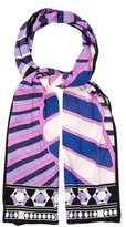 Emilio Pucci Striped Patterned Scarf