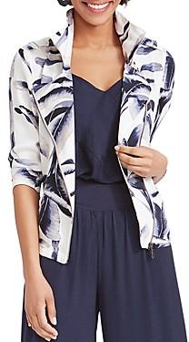 Nic+Zoe Nic + Zoe Botanical Lead Zip-Front Jacket