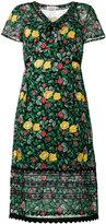 Coach floral print semi-sheer dress - women - Cupro/Viscose/Polyester - 4