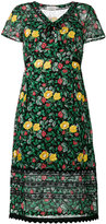 Coach floral print semi-sheer dress - women - Polyester/Cupro/Viscose - 4