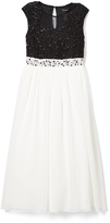 Speechless Black & Ivory Lace Accent Maxi Dress - Girls