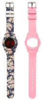 Titanium Girl's Led Watch With Interchangeable Band