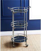 Abbyson Living® Marriot 3-Tier Round Bar Cart
