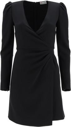 RED Valentino CREPE DOUBLE STRETCH MINI DRESS 40 Black