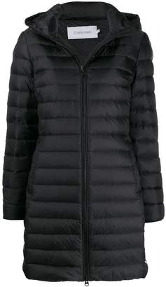 Calvin Klein quilted hooded coat