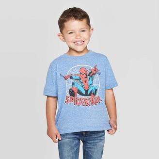 Spiderman Toddler Boys' Disney Short Sleeve Graphic T-Shirt - Heather Blue