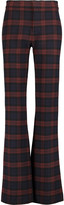 Derek Lam 10 Crosby Checked flannel bootcut pants