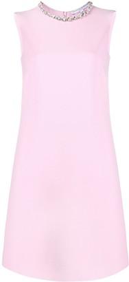 Ermanno Scervino embellished collar dress