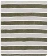 Pottery Barn Teen Striped Wool Blend Throw, 50x60, Moss Green Stripe