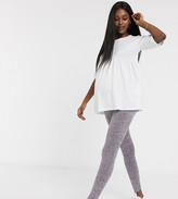 Asos DESIGN Maternity legging in marl