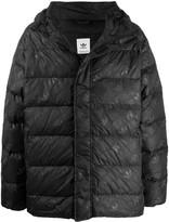 adidas logo print puffer jacket