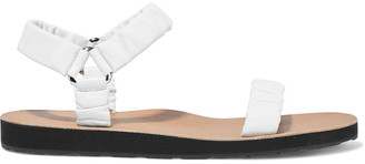 The Row Egon Gathered Leather Sandals