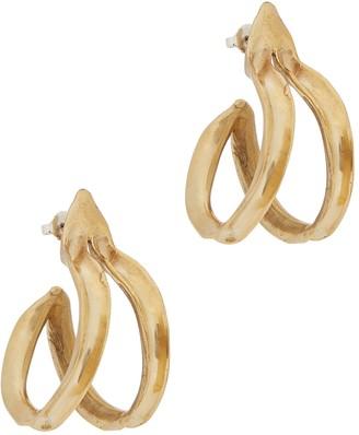 ARIANA BOUSSARD-REIFEL Double Kiki Brass Hoop Earrings